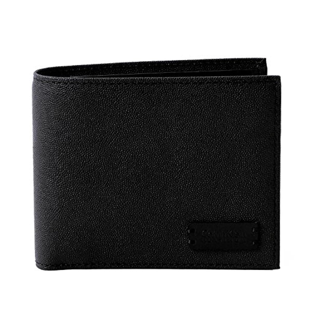 無数の資本過敏な[名入れ可] カルバンクライン プラティナム Calvin Klein PLATINUM レザー ウォレット セイム財布 本革 二つ折り 財布