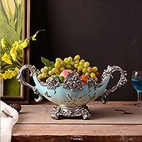 フルーツトレイクリエイティブ蝶、鳥柄樹脂フルーツボウルハンドル手彫りベース装飾品収納フルーツプレートリビングルームパーティー結婚式
