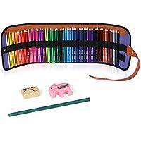 ZENKE 色鉛筆 72色 油性色鉛筆 鉛筆削り付き 消しゴム付き 収納ケース付き