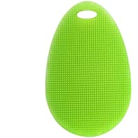 BESTOMZ 台所用食器洗濯ブラシ キッチンスポンジ 抗菌 再利用可能 油、汚れなどが洗い(グラスグリーン)