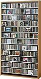 1284枚収納 CD屋さんのCD/DVDラック 幅109cm インデックスプレート20枚付き (ナチュラル N)