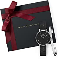 Gift Set Classic Petite Ashfield Black Watch  28mm+Cuff S Small