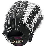 asics(アシックス) ソフトボール用グラブ 〈ゴールドステージ〉SPEED TECH®  QR  LH(右投用) ボール用;ポジション:外野手用;タイプ: BGS5LU.9001 LH ブラック/ホワイト LH(右投用)