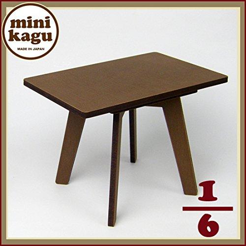 ミニ家具 ローカフェテーブル 長方形 1/6 ミニチュア家具