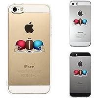 iPhone SE iPhone5S/5 対応 ハード クリア ケース 保護フィルム付 アメフト ヘルメットとボール