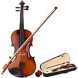 Lovinland 4/4 アコースティックバイオリン ナチュラルカラー ビギナーバイオリン フルサイズ ケース付き 弓 ロジン