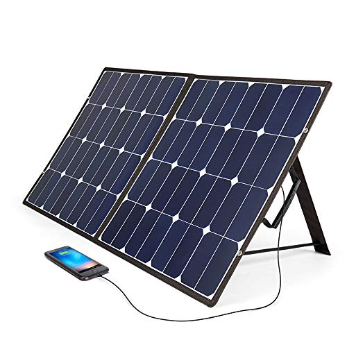 BougeRV ソーラーパネル 100W usbポート 折りたたみ ソーラーチャージャー 12V 18V ソーラー充電器 高効率 PC充電可能 スマホ 車中泊 キャンプ