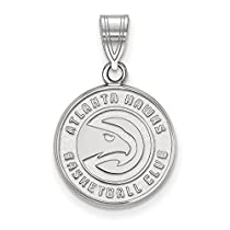 NBA Atlanta Hawksミディアムロゴペンダント10Kホワイトゴールド