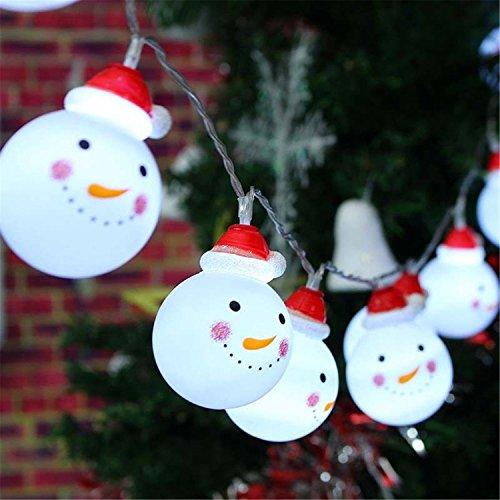 クリスマスツリー 飾り イルミネーション ledライト かわいい雪だるま 昼白色 10/20球 3メートル 不防水 屋内 聖夜を彩る 電飾 光を輝き 装飾 ツリーイルミネーション 電池式 (10球)
