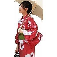 きもの京小町 女性 2点セット レディース フリーサイズ 赤 金魚 浴衣 グリーン 帯