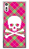 SECOND SKIN スカルパンク ピンク (クリア) / for Xperia XZs SO-03J・SOV35・602SO/docomo・au・SoftBank DSO03J-PCCL-201-Y218