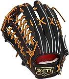 ZETT(ゼット) 硬式野球 プロステイタス プレミアム グラブ (グローブ) 外野手用 ブラック×オークブラウン(1936) 左投げ用 メンテナンス保証付き 日本製 BPROG8T