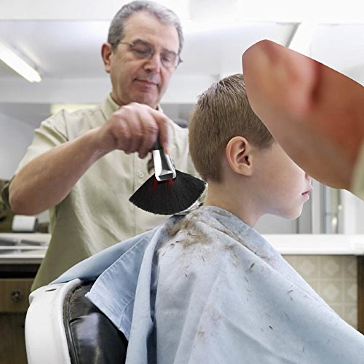下品柔らかさ特派員新型 理髪首ダストクリーンブラシ黒ソフトヘアカットサロンスタイリングツール用理髪