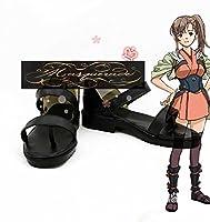甲鉄城のカバネリ 鰍(かじか) コスプレ靴 コスプレブーツ オーダーサイズ製作可能 大人気 (25cm, 男性)