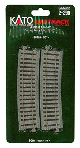 HOゲージ 2-290 曲線線路 R867-10° (2本入)