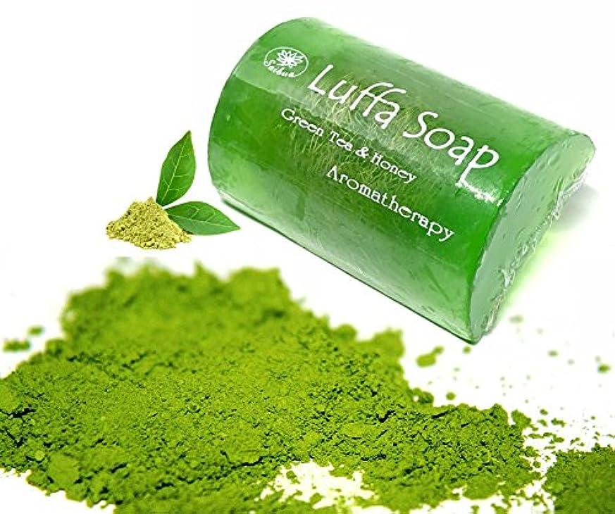 カブワンダー日食Soap Net Nature Handmade Aroma Aroma Tea & Honey Scrub Herbal Natural Relaxing After Work & Sport A luffa middle...