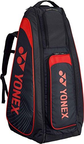 ヨネックス テニス スタンドバッグ リュック付 テニスラケット6本用 BAG1819 ブラック レッド 187
