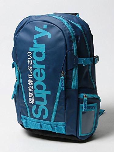 (スーパードライ) SUPERDRY バイカラー ロゴプリント バックパック BLIE TARP ブルー / -