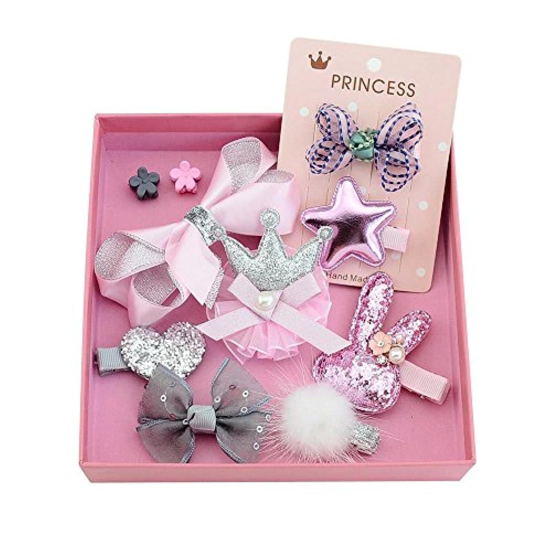 赤ちゃん髪飾り 髪留め カチューシャ ベビー 花 かわいい ヘアクリップ 王冠 ちょう結び ドット柄 ピンクのヘアピン 出産祝い 誕生日 プレゼント