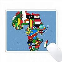 アフリカの旗質感デザイン PC Mouse Pad パソコン マウスパッド