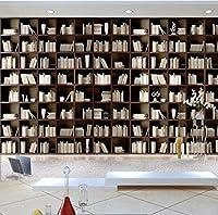 カスタム写真壁紙ヨーロッパのエレガントな高級木製シンプルな本棚本棚壁画研究ライブラリカスタム壁紙-150X120CM