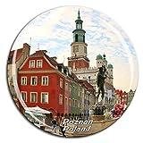 ポズナンポーランド冷蔵庫マグネット3dクリスタルガラス観光都市旅行お土産コレクションギフト強い冷蔵庫ステッカー