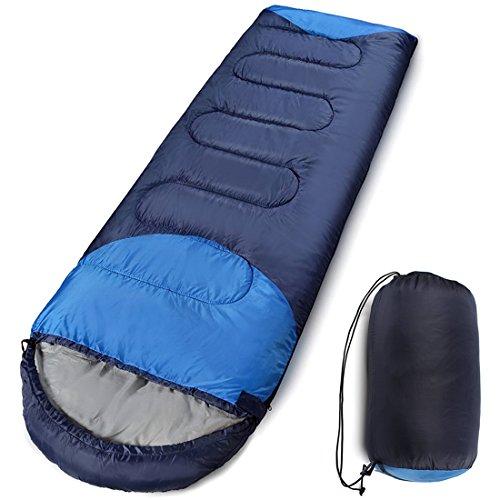 寝袋 コンパクト 封筒型 収納袋付き 丸洗いできる 防災用 軽量 防水 アウトドア 登山 Hippih