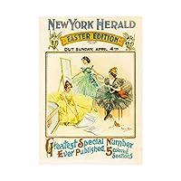 Advert Newspaper New York Herald 1897 Easter Edition Wall Art Print 広告ニューヨーク壁