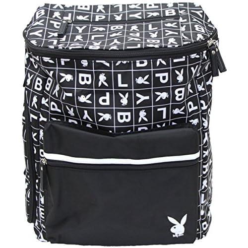 (プレイボーイ)PLAYBOY ロゴプリントリュック(エブリデイーバッグ)(B4サイズ対応) ブラック