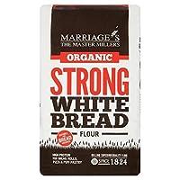 結婚の有機強い白パン粉1キロ (x 4) - Marriage's Organic Strong White Bread Flour 1kg (Pack of 4) [並行輸入品]