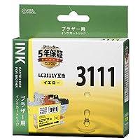 ブラザー LC3111Y互換(イエロー×1) 01-4328 INK-B3111B-Y