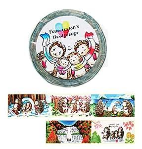 マスキングテープ 四季のハリネズミ Four-season hedgehogs 1(左出し)