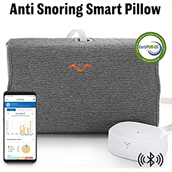 10Minds モーションピロー スマート いびき防止対策 モーションピロー MP1 親水性 メモリーフォーム 特許取得済み CertiPUR-US取得 いびきストップ 睡眠科学 横向き寝 頭部圧力センサー