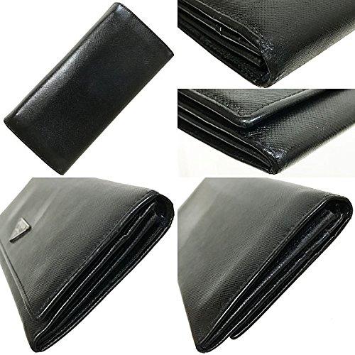 3174487d286b PRADA(プラダ) 長財布 サフィアーノ ブラック 黒 M201A PRADA 三角ロゴプレート レザー 革