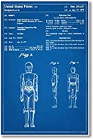 STAR WARS c3po Patent–新しい有名な発明青写真ポスター