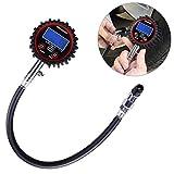 WINOMO エアゲージ タイヤゲージ デジタル 自動車 バイク用 タイヤ空気圧測定 最大測定値200Psi(1378kPa)