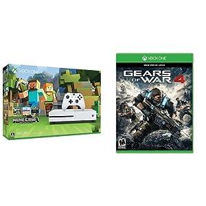 Xbox One S 500GB Minecraft 同梱版 (ZQ9-00068) + Gears of War 4[日本語字幕サポート](輸入版:北米)
