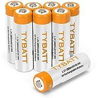 8本パック 単3形 充電池 充電式ニッケル水素電池 高容量 2800mAh 約1200回循環使用可能 電池収納ケース2個付き TYBATT