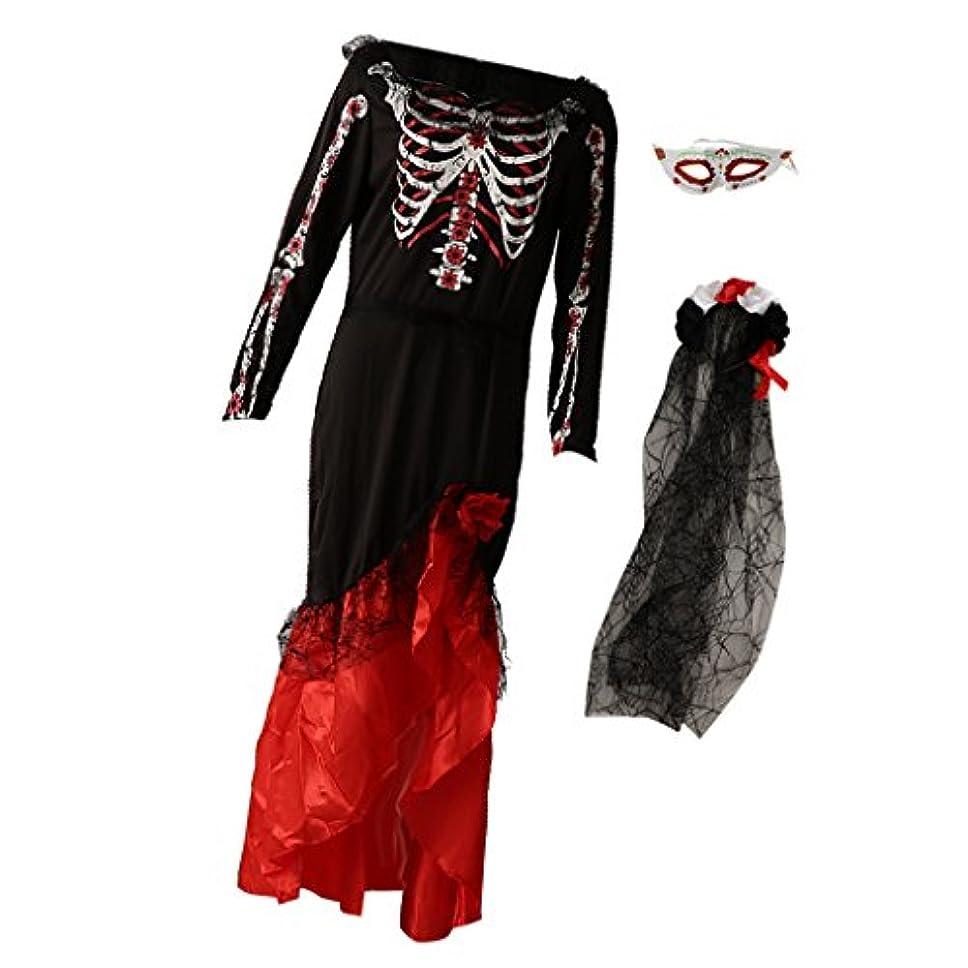学士病なグラスFenteer ハロウィーン コスチューム 恐ろしい雰囲気 花嫁衣装 ドレス 5スタイル選べ - #5
