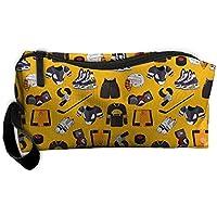 レディースガールズカートゥーンアイスホッケースポーツポータブルBuggyバッグ旅行メイクアップクラッチバッグハンドル化粧品バッグ多機能ブラシコスメティックバッグポーチオーガナイザーバッグ