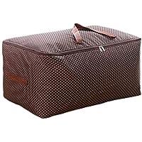 茶色2PCSポータブルストレージバッグ大型オックスフォード布衣類仕上げ防水性防湿折りたたみストレージはワードローブキルト羽毛移動ストレージバッグを整理する2個/セット (サイズ さいず : 50 * 40 * 25cm)
