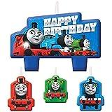 きかんしゃトーマス (Thomas) バースデーキャンドル 誕生日ケーキ デコレーション 4つセット [並行輸入品]