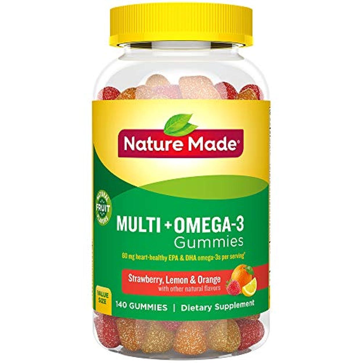 小包製作敵意Nature Made Multi + Omega-3 Adult Gummies (60 mg of DHA & EPA per serving),140粒