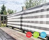 Cool Time(クールタイム) 目隠し バルコニー シェード 簡単設置 カット可能 グレー・ホワイト 500*100cm 【3年間の安心保証】