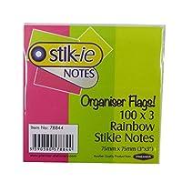 """レインボーStickie Organiserフラグ–300のパック、サイズ3"""" x 1"""""""