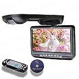 XTRONS 9インチ フリップダウン DVDプレーヤー モニター 高画質 CD USB SD ゲーム (ブラック)