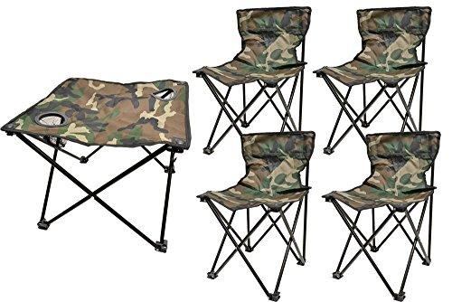 アウトドア 折りたたみテーブルX1個 折り畳み椅子X4個セッ...