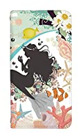 スマホケース 手帳型 nexus6p ケース 手帳 かわいい 姫 プリンセス 花柄 デザイン おしゃれ 0029-C. マーメイドストーリー[Nexus 6P (NX6P)] ケース ネクサス 6p ケース 人気 ベルトなし スマホゴ