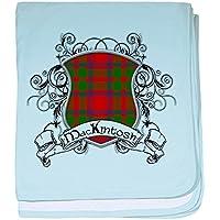 CafePress – Mackintosh Tartan Shield – スーパーソフトベビー毛布、新生児おくるみ ブルー 047300488125CD2