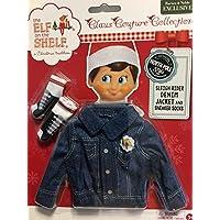 [The Elf on the Shelf]The Elf on the Shelf Elf on the Shelf Sleigh Rider Denim Jacket and Sneaker Socks CCDENJKTS [並行輸入品]